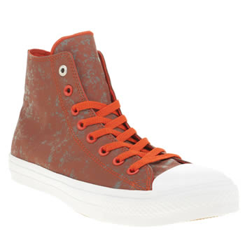 Converse Red All Star Ii Hi Reflective Wash Mens Trainers