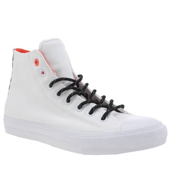 Converse White Chuck Taylor Ii Hi Shield Mens Trainers