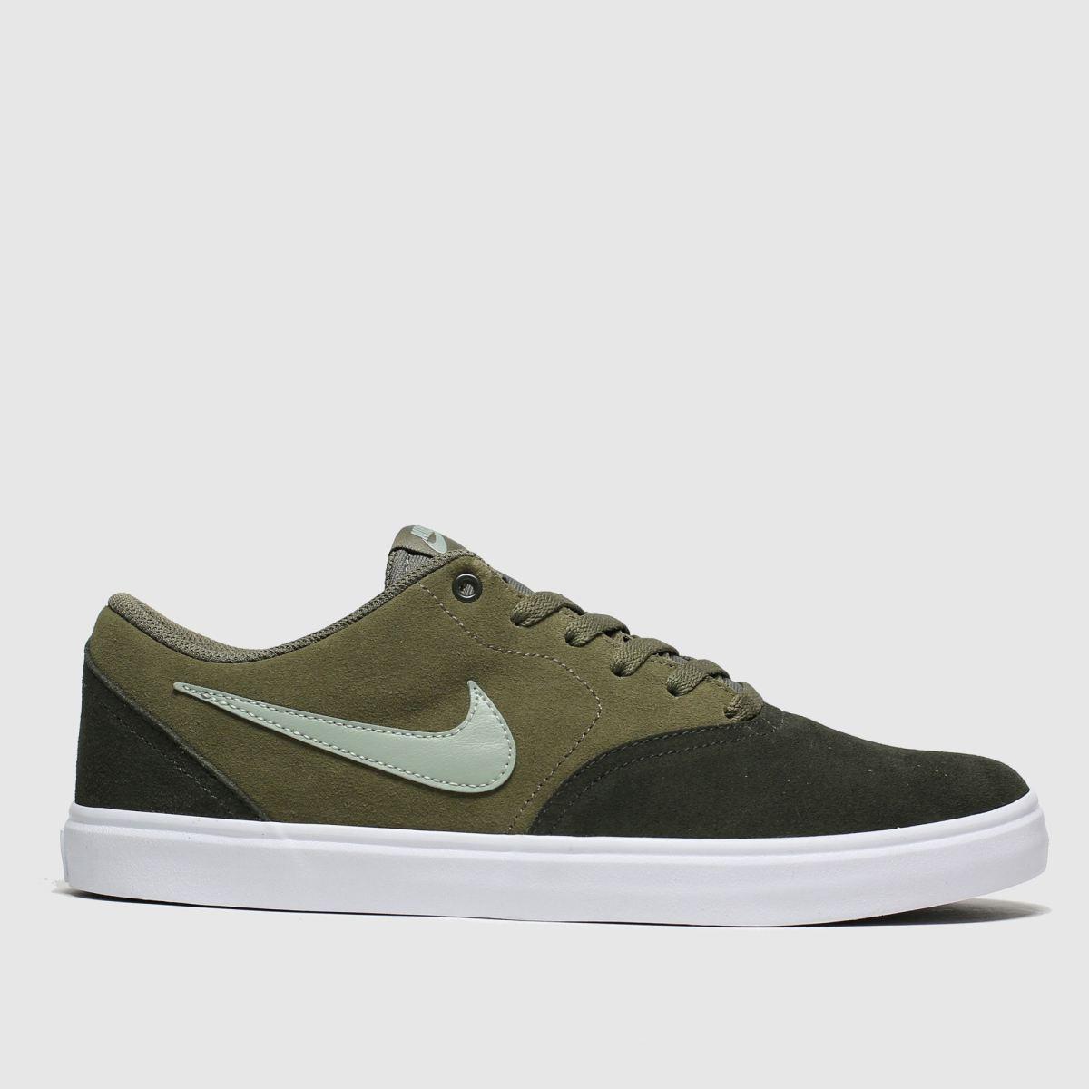 Nike SB Nike Sb Green Check Solarsoft Trainers
