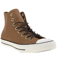 Converse Tan All Star Hi Leather Corduroy Mens Trainers