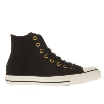 Converse Black All Star Hi Leather Corduroy Trainers