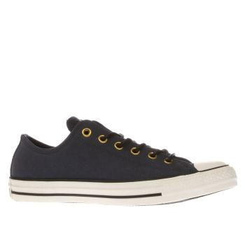 Converse Navy All Star Ox Leather Corduroy Trainers
