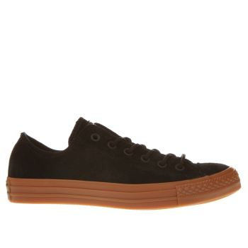 Converse Black All Star Ox Suede Gum Trainers