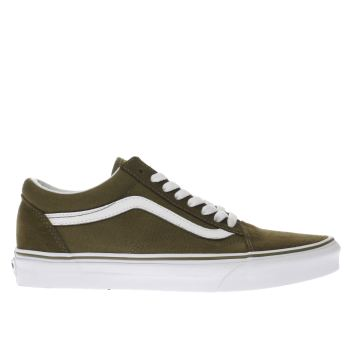 mens khaki vans old skool trainers schuh. Black Bedroom Furniture Sets. Home Design Ideas