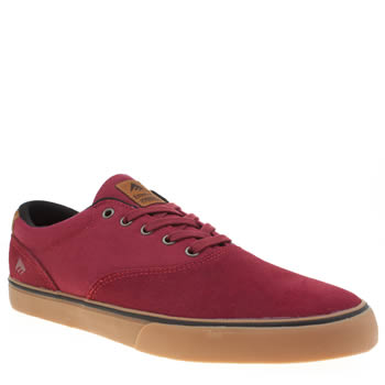 Emerica Burgundy Provost Slim Vulc Mens Trainers