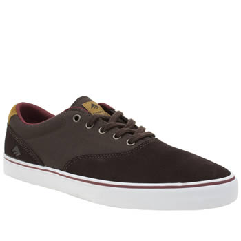 Emerica Brown Provost Slim Vulc Mens Trainers
