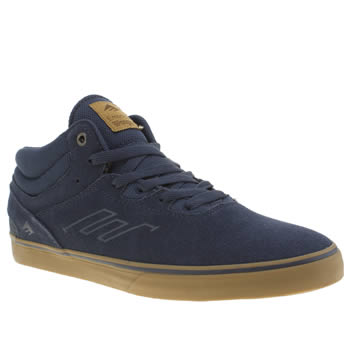 Mens Emerica Navy Westgate Mid Vulc Trainers