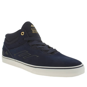 Emerica Navy & White Westgate Mid Vulc Trainers