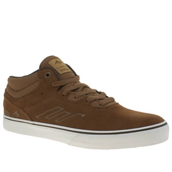 Mens Emerica Brown Westgate Mid Vulc Trainers