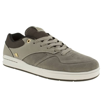 Mens Emerica Grey & Black The Heretic Trainers