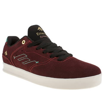mens emerica burgundy the reynolds low trainers