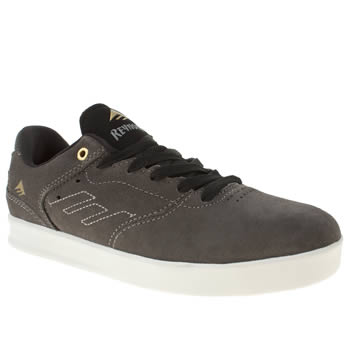 mens emerica grey & black the reynolds low trainers