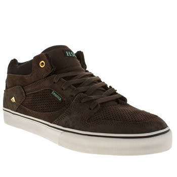 Mens Emerica Dark Brown Hsu Trainers