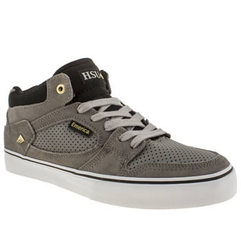 Mens Emerica Grey & Black The Hsu Trainers