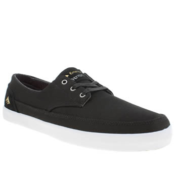 Mens Emerica Black Troubadour Low Trainers