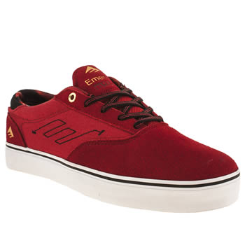mens emerica red the provost trainers