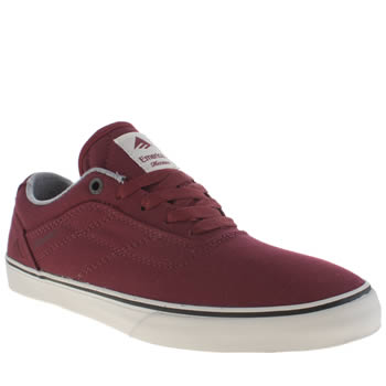 Mens Emerica Burgundy Herman G6 Vulc Trainers