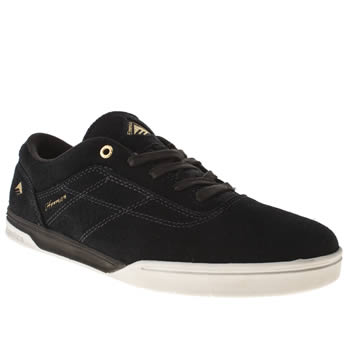 mens emerica navy & gold the herman g6 trainers