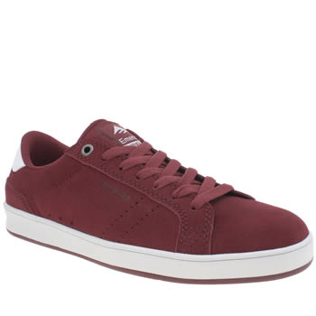 Mens Emerica Burgundy The Leo Dos Trainers