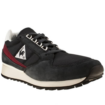 Mens Le Coq Sportif Navy & Red Eclat 89 Trainers