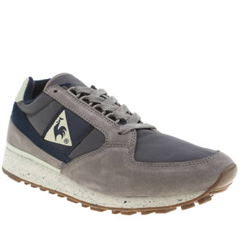 Mens Le Coq Sportif Grey & Navy Eclat 89 Trainers