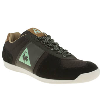 mens le coq sportif black & brown tourmalet trainers