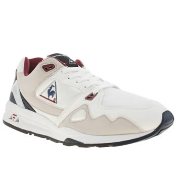 Mens Le Coq Sportif White & Beige Lcs R 1000 Trainers
