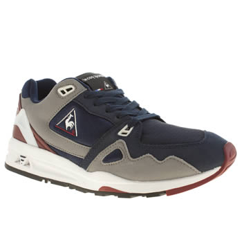 Mens Le Coq Sportif Navy & Grey Lcs R 1000 Trainers