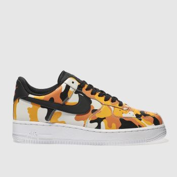 Nike Orange Air Force 1 07 Mens Trainers