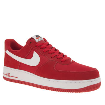Nike Red Air Force 1 Trainers