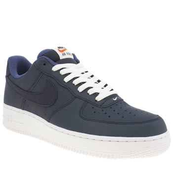 Mens Nike Navy Air Force 1 07 Trainers
