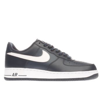 Nike Navy & White Air Force 1 Trainers