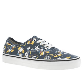 Mens Vans Blue & Yellow Authentic Disney Donald Duck Trainers