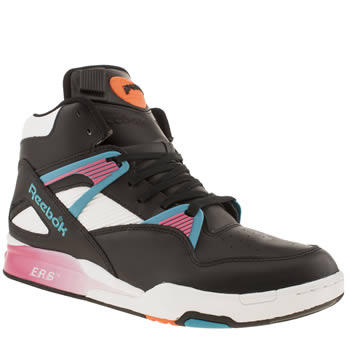 Reebok Black & White Pump Omni Zone Trainers