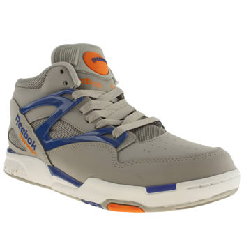 Mens Reebok Light Grey Pump Omni Lite Trainers