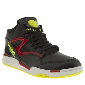 Reebok Black & Red Pump Omni Lite Trainers