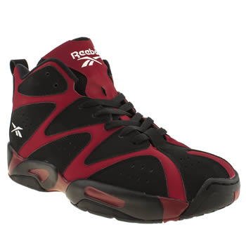 Reebok Black & Red Kamikaze 1 Mid Trainers