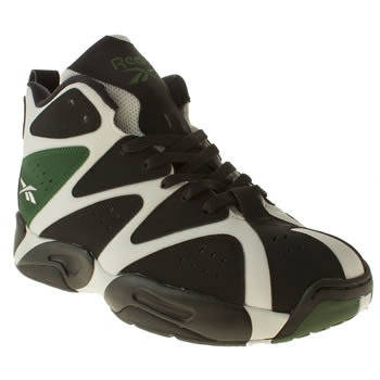 Reebok Black & Green Kamikaze 1 Mid Trainers