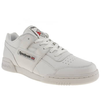 Mens Reebok White Workout Plus Trainers
