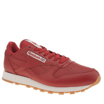 Reebok Red Classic Leather Trainers