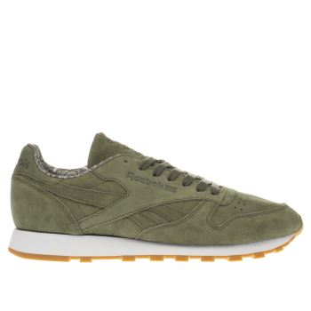 Reebok Dark Green Classic Leather Tdc Mens Trainers