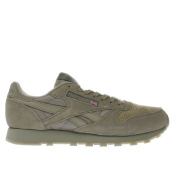 Reebok Khaki Classic Leather Mens Trainers
