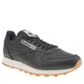 Reebok Navy Classic Leather Trainers