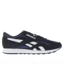 Reebok Navy & White Classic Leather Mens Trainers