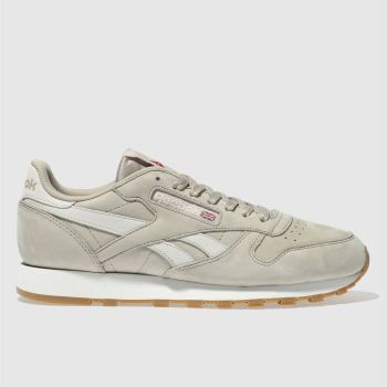 Reebok Beige Classic Leather Mens Trainers