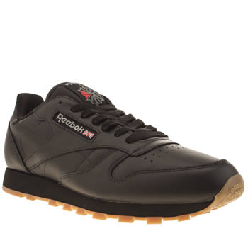 Mens Reebok Black Classic Leather Trainers
