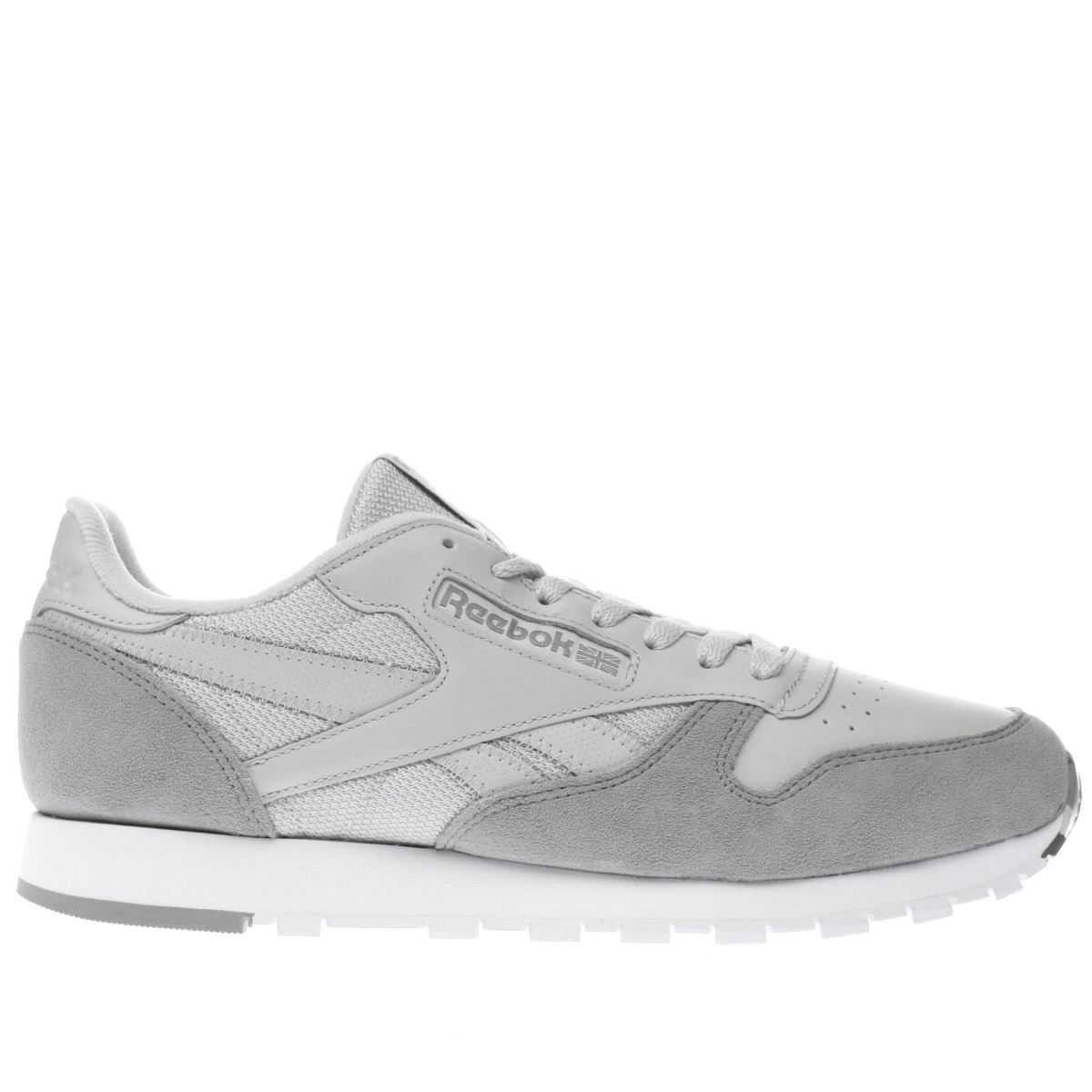 reebok grey classic leather trainers