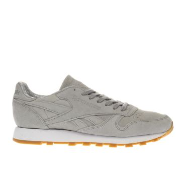 Reebok Light Grey Classic Leather Tdc Mens Trainers