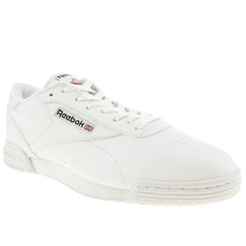 Mens Reebok White & Black Exofit Lo Trainers