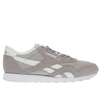 Reebok Grey Classic Nylon Mens Trainers